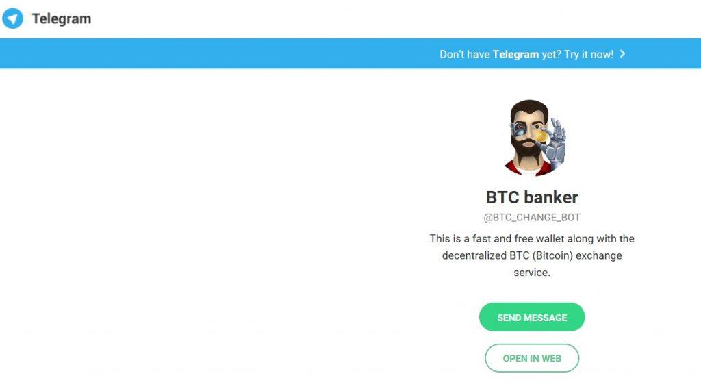 BTCbanker – удобное средство для обменных валютных операций в среде Telegram.
